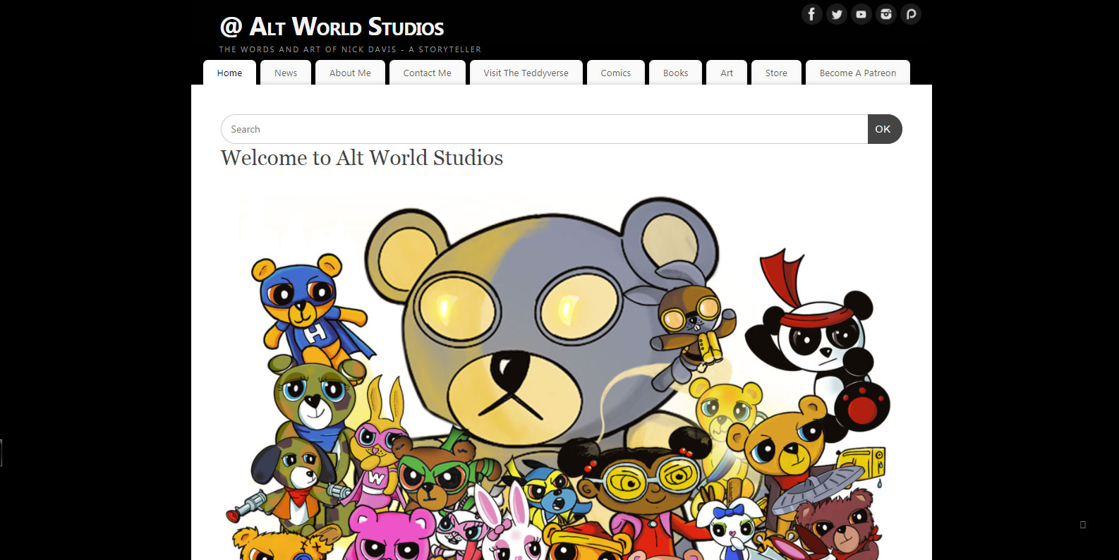 The Old Alt World Studios Website