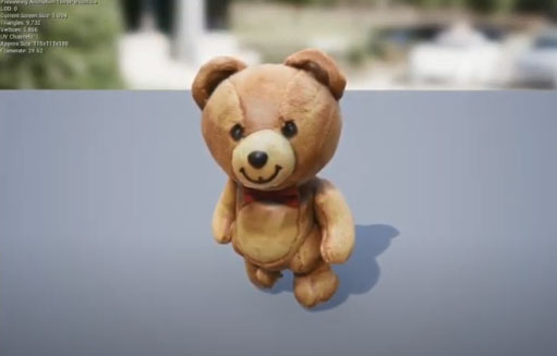 3D Animation rig of a teddy bear