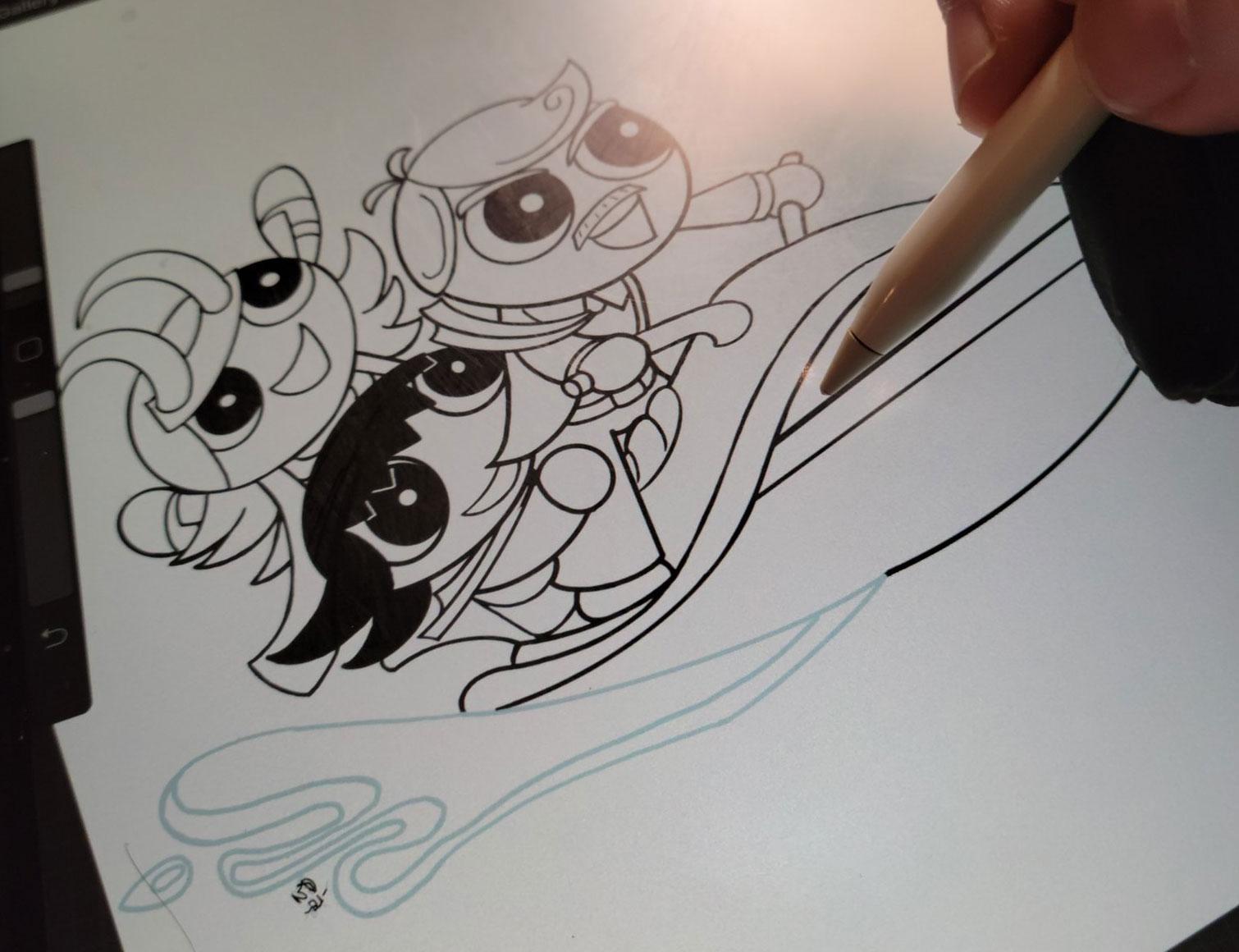 Sylvie, Loki and Mobius on a Jetski inked